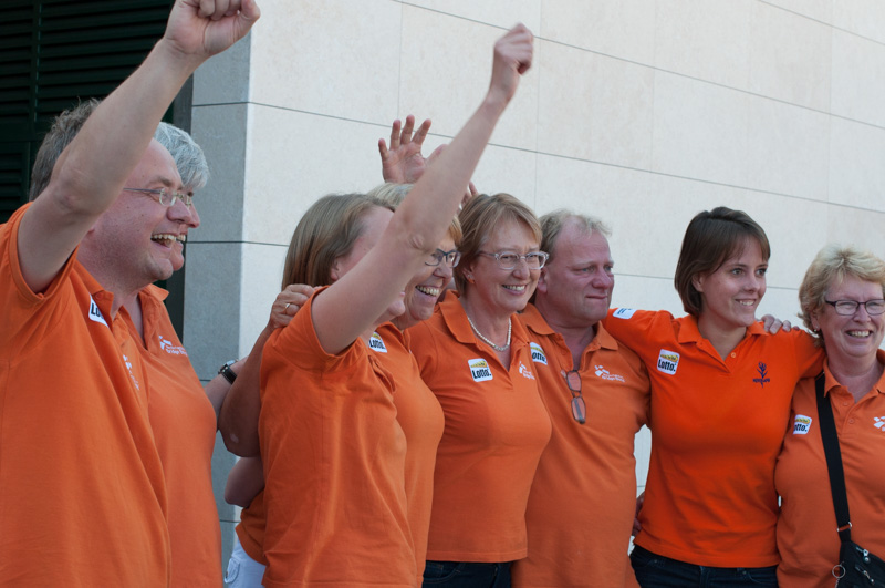 the Netherlands Team Celebrate victory